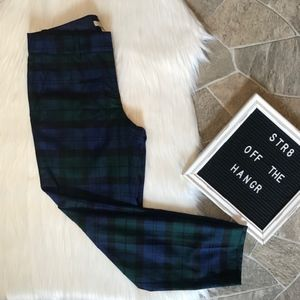 J. Crew stretch wool plaid cropped trousers size 0